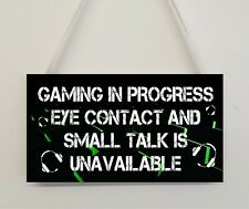 Novelty Gaming Sign Plaque Gamer Gift For Dad Son Brother Uncle Daughter Mum