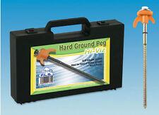 Caravan Awning Tent Hard Ground Drill Pegs 20 in Box Hi-Viz Plastic Hook 6009945