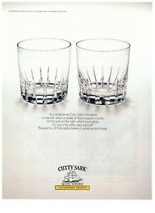 1991 Cutty Sark Scots Whisky Rocks Glass Vintage Print Advertisement