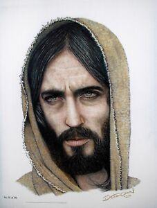 Jesus of Nazareth Colored Pencil Drawing Numbered Original Artwork Print
