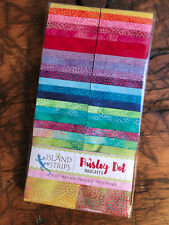 Island Batik Precut Fabric Strips, Paisley Dot, Jelly Roll, Rollup,Quilting
