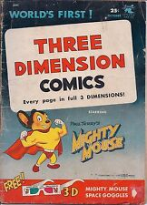 Three Dimension Comics, Vol. 1, #1, No Glasses, Paul Terry, Mighty Mouse, 1953