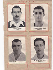Lote 13 cromos Temporada 1942/43 CEUTA FUTBOL CLUB ( FHER )