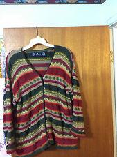 LIZSPORT Women's Petite Size Medium Multicolor 7-Button Cardigan Sweater EUC