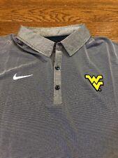Mens Size XL Nike Polo Shirt WVU Mountaineers Gray/Blue West Virginia