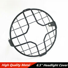 "1 Pcs 6.5"" Black Metal Retro Motorcycle Scooter Headlight Lamp Mesh Grille Cover"