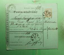 DR WHO 1874 AUSTRIA/HUNGARY POSTAL ORDER NYITRA TO VIENNA  g43059