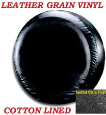 """LINED VINYL LEATHER GRAIN SPARE TIRE COVER LARGE size 35"""" diameter or 17"""" rim"""