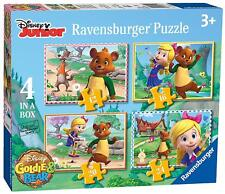 DISNEY GOLDIE & BEAR 4 IN A BOX 12/16/20/24 PIECE RAVENSBURGER JIGSAW PUZZLE