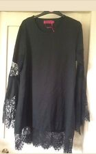 black dress with lace sleeves 12