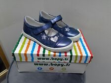NEW BOPY  PARTY BLUE MARY JANE STYLE SHOES WITH STAR DETAILS. LEATHER/SUEDE