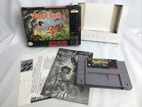 The Jungle Book (Super Nintendo SNES) COMPLETE IN BIX CIB  - Authentic Tested