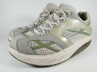 Womens MBT M. Walker Silver Walking Shoes SZ 8 38.5 Used Sneakers Toning Trainer