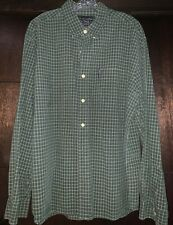 Abercrombie & Fitch Vintage Green Plaid Long Sleeve Button Down Shirt XL (Used)