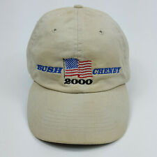 VTG 2000 Bush Cheney Presidential Election Beige Fitted Baseball Cap Hat Size L
