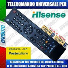 TELECOMANDO UNIVERSALE HISENSE; CLICCA SUL TUO MODELLO LO RICEVERAI GIA PRONTO