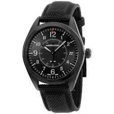 Hamilton Khaki Field Black Dial Black Stainless Steel Men's Watch H68401735
