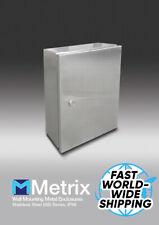 "Stainless steel Electrical Enclosure box waterproof Metal Wall mount 10x12x5.5"""