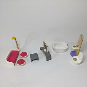 Plan Toys Lounge room & Bathroom Furniture 10 Pieces Dollhouse set