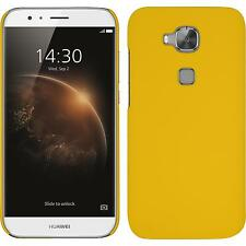 Hardcase for Huawei G8 rubberized yellow Cover + protective foils