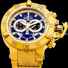 Invicta Men Subaqua Noma III Swiss Chrono Blue Dial 18Kt Gold Bracelet Watch
