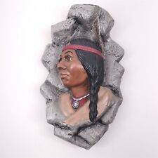 "Sittre Ceramic 1981 Wall Native American Indian Woman Hanging 11 1/2"" Tall"