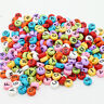 100-1000 Colors Acrylic Individual Alphabet Letter Coin Round Flat Spacer Beads