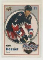 MARK MESSIER ~ Hockey Heroes ~ 2009-10 Upper Deck #HH25 ~ New York Rangers