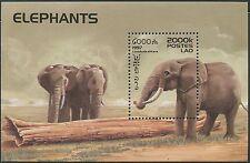 LAOS Bloc N°139 ** Bf Eléphants , 1997 , Elephants  Sheet SC#1335 MNH