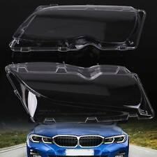 2x Car Headlight Lens Cover Headlight Headlamp Lense For BMW E46 3 Series UK