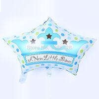BLU colore a pois palloncini stagnola per bambini festa di compleanno neonato