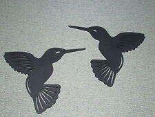 Hummingbird Pair Wood Wall Art Decor