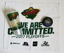 Minnesota Wild vs St Louis Blues 2017 Stanley Cup Playoffs Puck, Towel & Cup!!