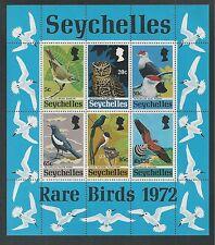 SEYCHELLES # 304a MNH RARE BIRDS 1972 Souvenir Sheet