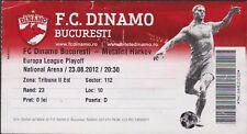 Billete FC Dinamo Bucarest vs Metalist Harkov - 23/08/2012 - Europa Liga