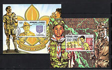 Djibouti  timbre  blocs spéciaux  scout Baden Powell  num: BF PA  169/70  oblité