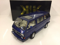 VW Bus T3 1992 Limited Last Edition 1992 Blue 1:18 Scale KK Scale
