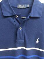 🏇🧔Ralph Lauren Mens Short Sleeve Polo Shirt Medium M Striped🧔🏇