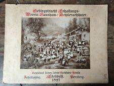 Gebirgs Tracht Edelweiß Johannisberg Penzberg 1897 Bild Schlierachtaler