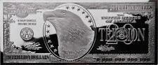 *BUY>A GREAT GIFT IDEA! 4oz Silver $20-TRILLION DOLLAR BILL PROOF BAR & AT Hldr+