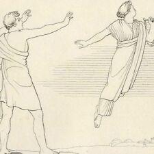 Les Hommes et  la Justice Mythologie Poésie Hésiode John Flaxman gravure 19e