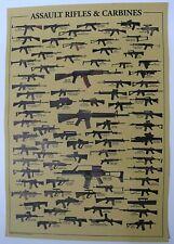 Assault Rifles & Carbines Poster Print Guns & Weapon Decoration Second Amendment