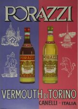 PORAZZI VERMOUTH DI TORINO, Italy, 1955, 250gsm A3 Poster