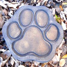 "Dog paw 1/8th"" plastic mold concrete plaster garden mould  7"" x 7"" x 1.5"""