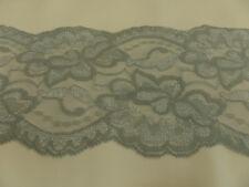 encaje COMO POR METROS Elástico 10cm de ancho gris plata BW / Lycra / Elastano