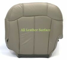 99 2002 2001 2000 Chevy Silverado Driver Side Bottom Leather Seat Cover Gray#922