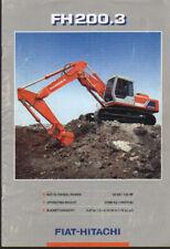 "Fiat-Hitachi ""FH200.3"" Tracked Hydraulic Excavator Brochure Leaflet"