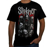 SLIPKNOT FACES PUNK ROCK Black T Shirt