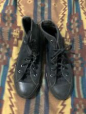 Vintage 90's Made In Usa Chuck Taylor All Star Black High Tops Mens 5 Womens 7