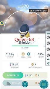 Shiny Shieldon - mini acc  - Pokemon Go - Description